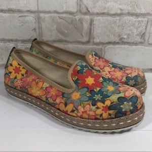 Goby Floral Canvas Espadrilles Slip On Loafers
